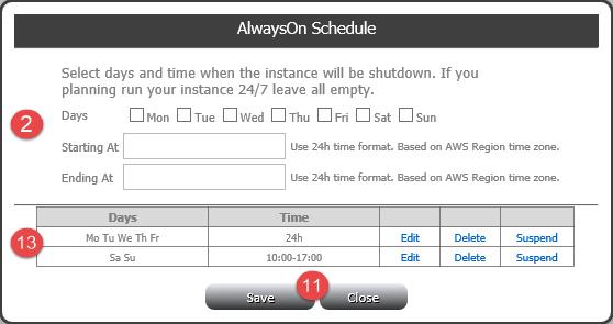 AlwaysOn Scheduler