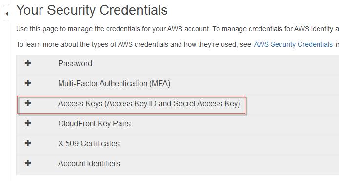 Root Access Keys